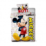 Mickey Mouse Reversible Duvet Cover + Pillowcase 140x200 cm