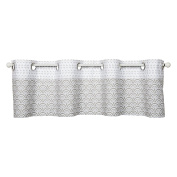 Trend Lab Art Deco Window Valance, Grey/White