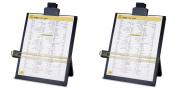 Sparco Easel Document Holders, Adjustable, 10-3/8 x 5.7cm x 32cm , Black (SPR38952), 2 Packs