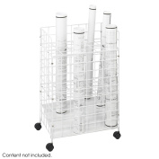 Safco Products 3088 Wire Roll File, 24 Compartment, White