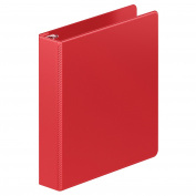 Wilson Jones Heavy Duty D-Ring Binder with Extra Durable Hinge, 3.8cm , Red