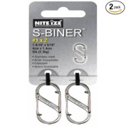 Nite Ize Size-1 S-Biner Dual Spring Gate Carabiner, Stainless, 2-Pack