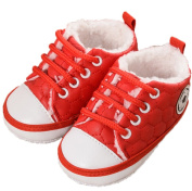 Baby Anti-Slip Prewalker Toddler Crib First Walkers Shoes Lace Up Sneakers