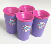 Wow Cup for Kids - NEW Innovative 360 Spill Free Drinking Cup - BPA Free - 270ml (Purple), 4 Pack