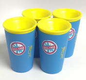 Wow Cup for Kids - NEW Innovative 360 Spill Free Drinking Cup - BPA Free - 270ml (Blue), 4 Pack