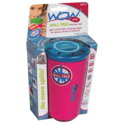 Wow Cup for Kids - NEW Innovative 360 Spill Free Drinking Cup - BPA Free - 270ml (Pink), 1 Pack