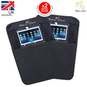 Mother's Touch® iPad/Tablet Kick Mats & Car Organiser | 2-PACK | EXTRA WIDE | 100% WATER-PROOF | DUAL STARPPING | WATER-PROOF | HEAVY DUTY | TAILORED FIT | EASY TO CLEAN