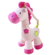 Drasawee Baby Infant Kids Soft Horse Music Toy Lovely Easy Grab Dolls Pink