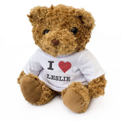 NEW - I LOVE LESLIE - Teddy Bear - Cute And Cuddly - Gift Present Birthday Xmas Valentine