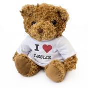 NEW - I LOVE LESLIE - Teddy Bear - Cute And Cuddly - Gift Present Birthday Xmas Valentine