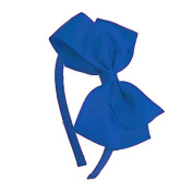Poplico Headband Butterfly Bow, Large, Royal Blue