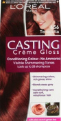 SIX PACKS of L'Oreal Casting Creme Gloss Hair Colour Number 656, Terracotta