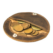 Rustic Leather Moon Coin Case Handmade by Hide & Drink :