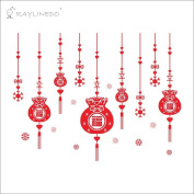 Raylinedo® Happy Chinese New Year Removable Wall Stickers Window Sticker Art Decals Mural DIY Wallpaper for Room Decal