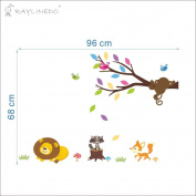 Raylinedo® Animal and Tree Removable Wall Stickers Window Sticker Art Decals Mural DIY Wallpaper for Room Decal 96*68CM