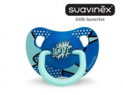 """SUAVINEX """"BABY ARTY"""" Nr. 302902 - 1x Pacifier Soother Dummy Anatomical Silicone Teat/ BLUE"""