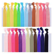 Mudder Ribbon Hair Ties Ponytail Holder Hair Bands Elastic Hair Accessories, 100 Pieces, Assorted Colours