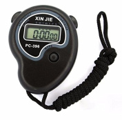 Creazy®Digital Professional Handheld LCD Chronograph Sports Stopwatch Timer Stop Watch