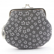 Bodhi2000® Womens Floral Printed Mini Hasp Coin Purse Wallet with Key Ring