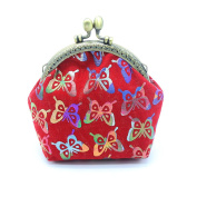 Bodhi2000® Womens Gilding Butterfly Pattern Wallet Hasp Coin Purse Clutch Bag