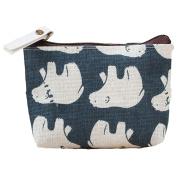Pu Ran® Women Cute Small Handbag Zip Coin Bag Case Holder Purse Mini Wallet