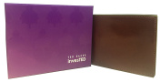 TED BAKER invesTED BROWN WITH GREEN BI-FOLD WALLET