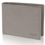 bugatti Gents Wallet Men Purse Landscape Leather 125cm Zipper Folding Compartment elefant grey