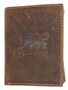 Natural strong genuine leather wallet The wild force with a tiger