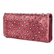 Women's Bvane Women's Fashion Full Grain Leather Wallet 8146 Red red