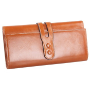 Vectri Wallet Fashion Leather Wallet Button Purse Lady Long Women's Handbag