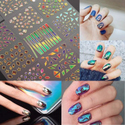 Nail Sticker DANCINGNAIL 15 Sheets Nail Art Transfer Stickers 3D Design Manicure Tips Decal Decoration