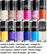 Maybelline Colour Show Finger Nail Polish Multi Colour Set of 12 by Beauty Brags
