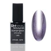 Chrome Effect Stampinglack Purple 12ml Stamping Nail Polish RM Beauty Nails