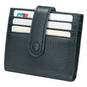 ITSLIFE Women's Small 10 Card Holder Soft Front Pocket Leather Wallet Ladies Bifold Purse