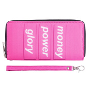 Fashionable Wallet for Men Woman Cash Holder Zippered Card Purse Money Power Glory [050]
