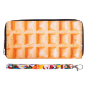 Fashionable Wallet for Men Woman Cash Holder Zippered Card Purse Waffle [050]