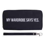 Fashionable Wallet for Men Woman Cash Holder Zippered Card Purse Say Yes Say No [050]