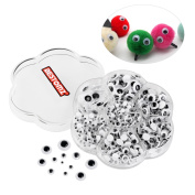 BESTOMZ 700 Pieces Mixed Wiggle Googly Eyes with Self-adhesive DIY Scrapbooking Crafts Toy Accessories, Assorted Sizes