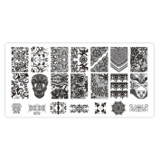 CHIC*MALL Nail Art Decor Nail Stamping Printing Plate Image Stamps