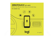 Logitech ZeroTouch Air Vent Car Mount for Android Phones 5.0 and Above, Works with Alexa - Black