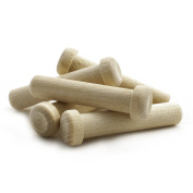 Wooden Axle Pegs for 1cm Hole, 2.5cm - 2.1cm Long Wood Toy Wheel Pegs - Bag of 25