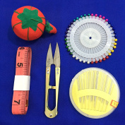 Best Value 80 Sewing Pin and Cushion Set - Easy-Push Ball Heads