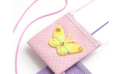Childrens beautiful butterfly sparkly purse, with long cross the body handle