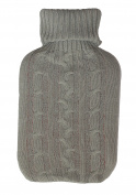 1.8 - 's Homeware Hot Water Bottle with Cover grey