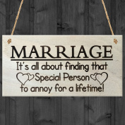 It's All About Finding That Special Person To Annoy For A Lifetime Funny Wooden Hanging Plaque