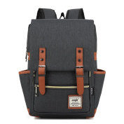 YuHan Oxford Vintage Casual Backpack Laptop Computer Bag College School Backpack Ourdoor Weekend Travel Daypack Black