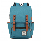 YuHan Oxford Vintage Casual Backpack Laptop Computer Bag College School Backpack Ourdoor Weekend Travel Daypack Blue