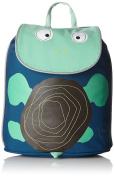 Lassig Kids Cute Duffle Backpack Pre-School Kindergarten Bag Kids Bag with chest strap, name badge and drink Bottle Holder, Wildlife Turtle