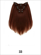 LORD & CLIFF EVITA SIX PIECE STRAIGHT HUMAN HAIR CLIP IN EXTENSION 36cm #33