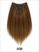 LORD & CLIFF SEVEN PIECE STRAIGHT REMY HAIR CLIP IN EXTENSION 50cm #4/30
